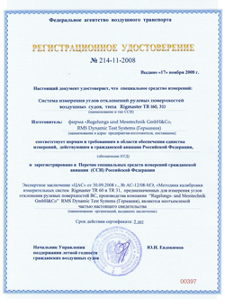 Registration certificate №214-21-2008